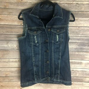Kut From the Kloth Jean Distressed Vest Small
